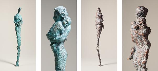 figürliche Bronze-Skulpturen von Annette Zappe aus Kempten im Allgäu